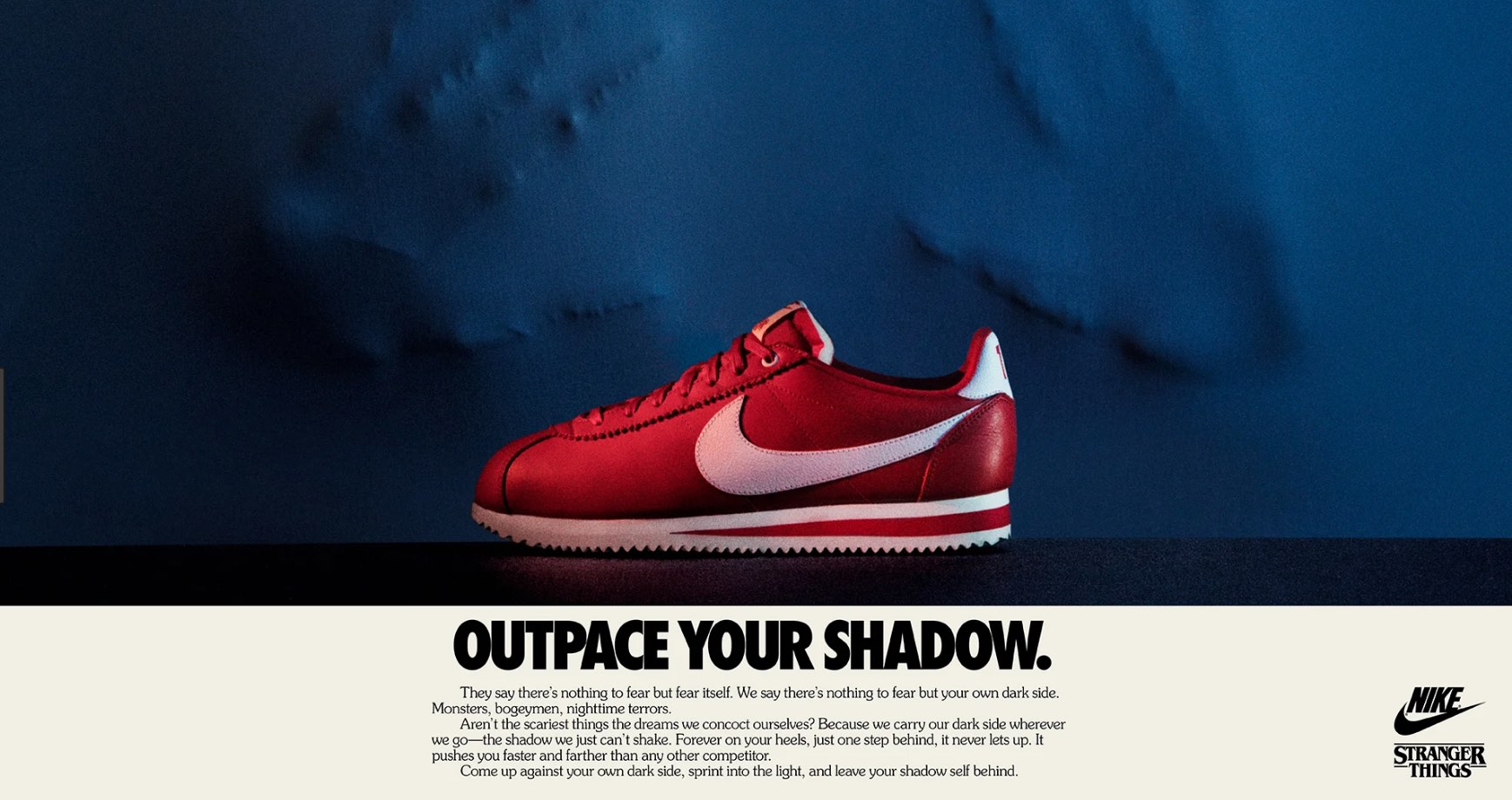 4. Steve's sneaks. Pretty basic collaboration with minimal effort from Nike and lots of cash for the Duffer brothers. Neat.  https://www.nike.com/us/en_us/c/stranger-things