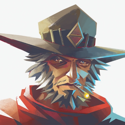 Drawing credit - Francoyovich on Deviant art: http://francoyovich.deviantart.com/art/Overwatch-McCree-533009564