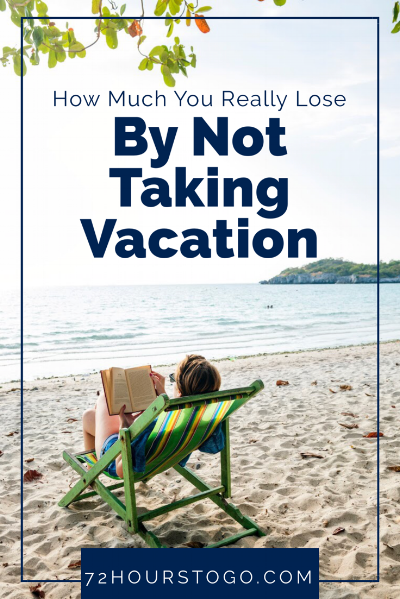 Do you know how much money you lose each year by not using all your vacation time? That you are less likely to get a promotion or a raise if you don't take time off?