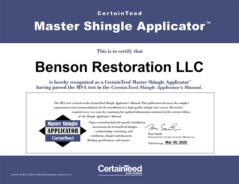 CertainTeed Certification_Benson Restoration.jpg
