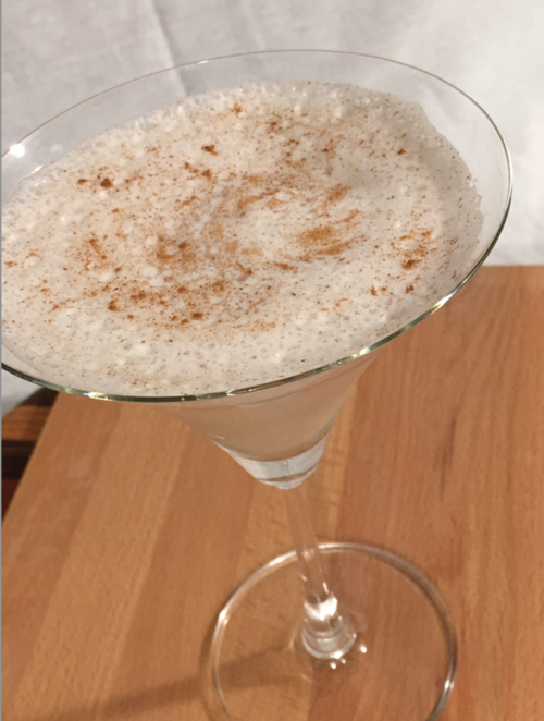 Holiday Rush - Ingredients:·1.5 oz. Lass & Lions Rush Vodka·Heavy dash of cinnamon·1.5 oz. Tuaca (vanilla liqueur)·Splash simple syrup·2-3 oz. whole milkCraft:·Combine and shake with ice until frothy·Serve in martini glass·Garnish with sprinkle of cinnamon