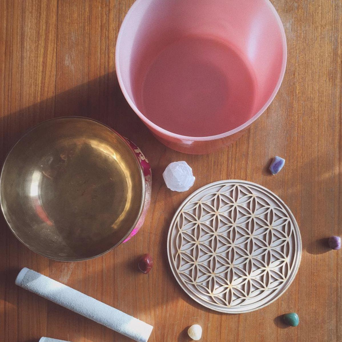 sacred geometry crystal singing bowl