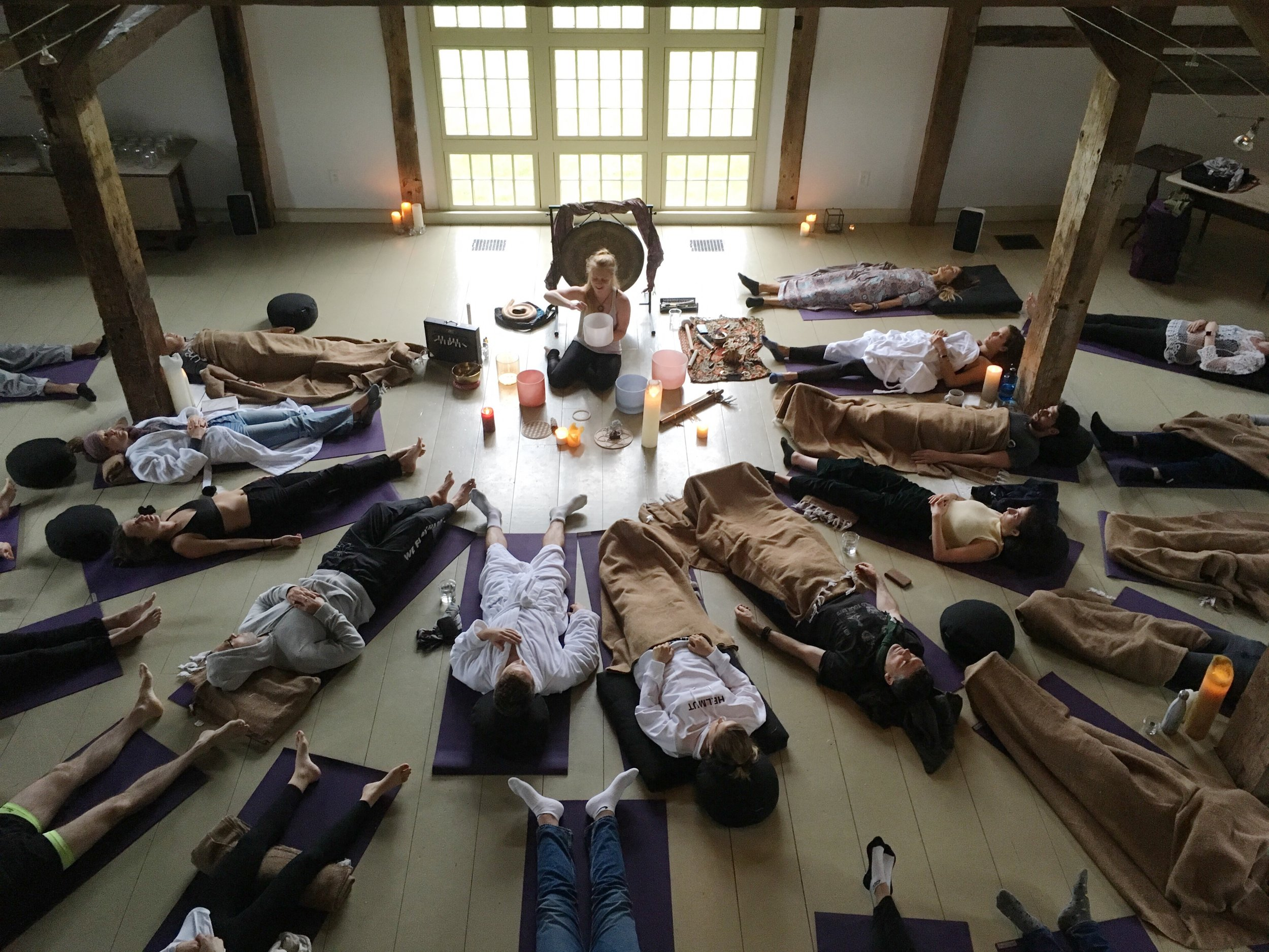 Sound Healing at The Dutchess in the Hudson Valley, upstate New York.