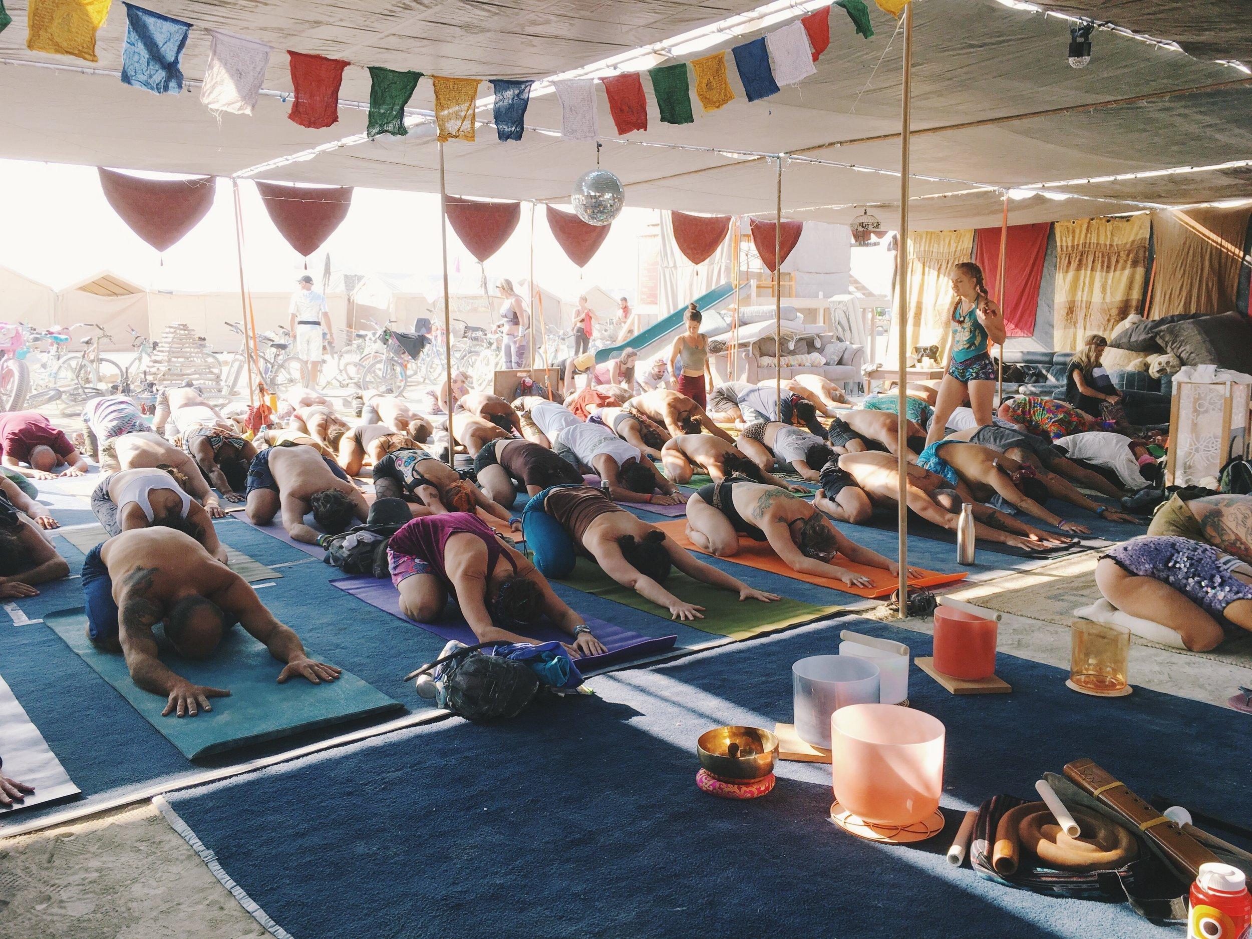 Yoga and Sound Healing Burning Man 2018