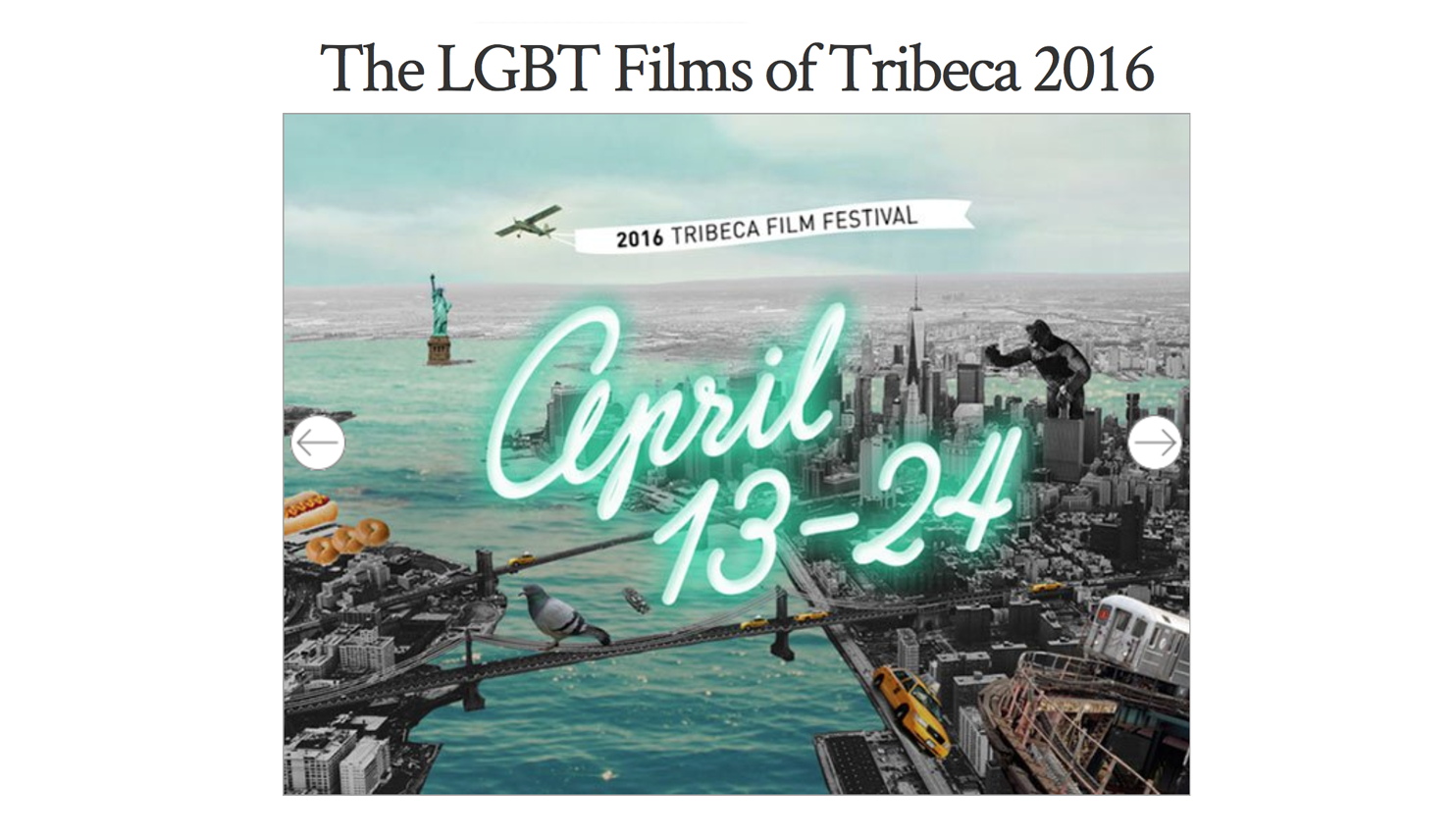 The LGBT Films of Tribeca 2016