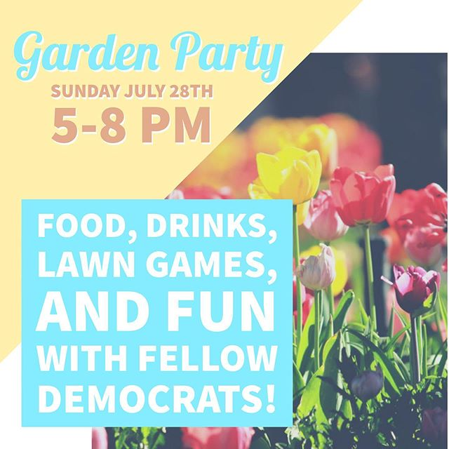 Our favorite event of the year is coming up this Sunday, and you don't want to miss it! The Garden Party is always a fun and relaxing event where you can meet electeds, candidates, and engaged Democrats from all over Salt Lake County! Get your tickets today by following the link in our bio. #slcodems #utdems #getinvovled
