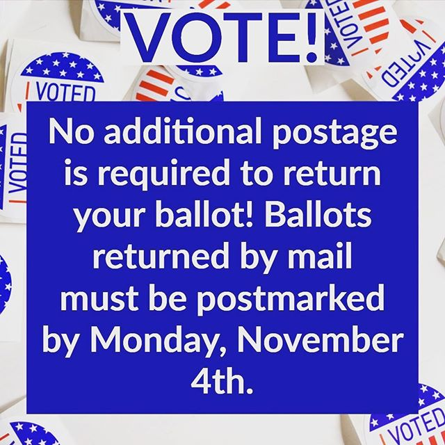 Still need to mail in your ballot for the Municipal Election? Don't stress over returning it, no additional postage is needed to mail it back in! Make sure to postmark your ballot by November 4th for it to be counted! #vote #saltlake #slcodems #utdems