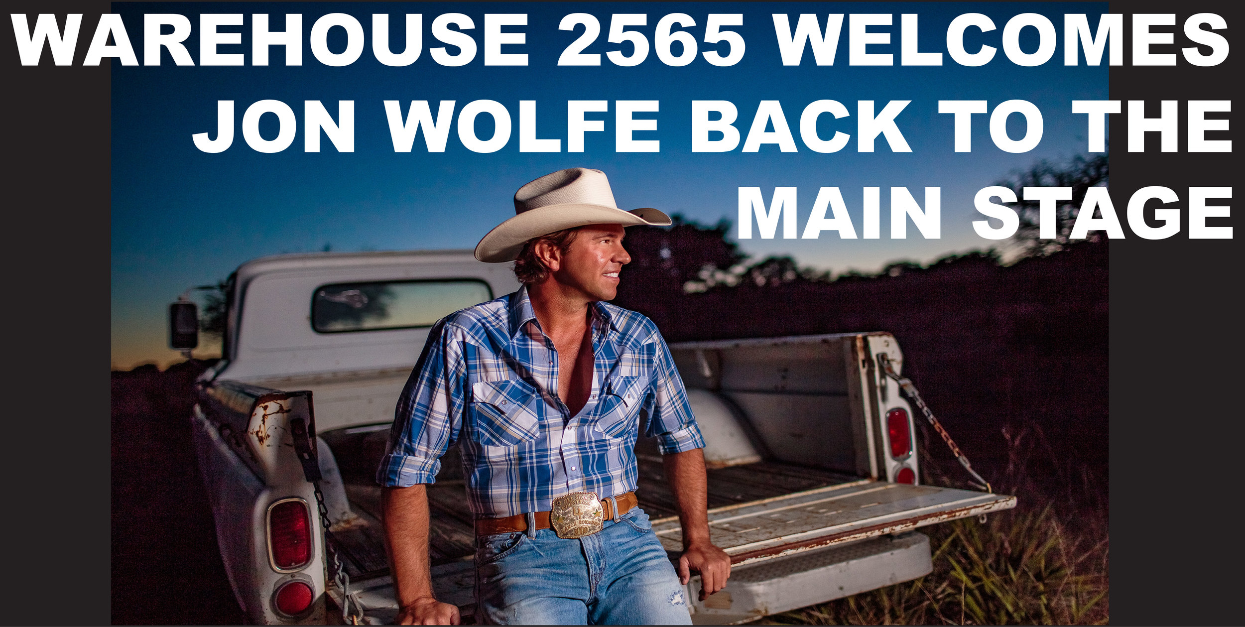 """Jon Wolfe set to bring that REAL country music all the way from Texas to Western CO! This will be one of those can't miss kind of shows you'll talk about """"remember when we saw him at the Warehouse"""" Tickets go on sale 7/5 Get em while they last!"""