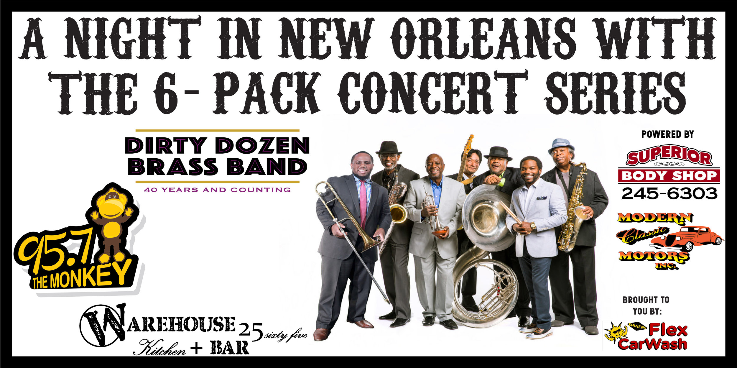 GJ get ready for some New Orleans brass heading to the Warehouse for and unforgettable night of live Blues, Jazz and that sweet New Orleans Funk music! The Warehouse and 92.3 The Moose will turn into a night in New Orleans with all the favorite menu items and music for a great night out in Grand Junction, CO!