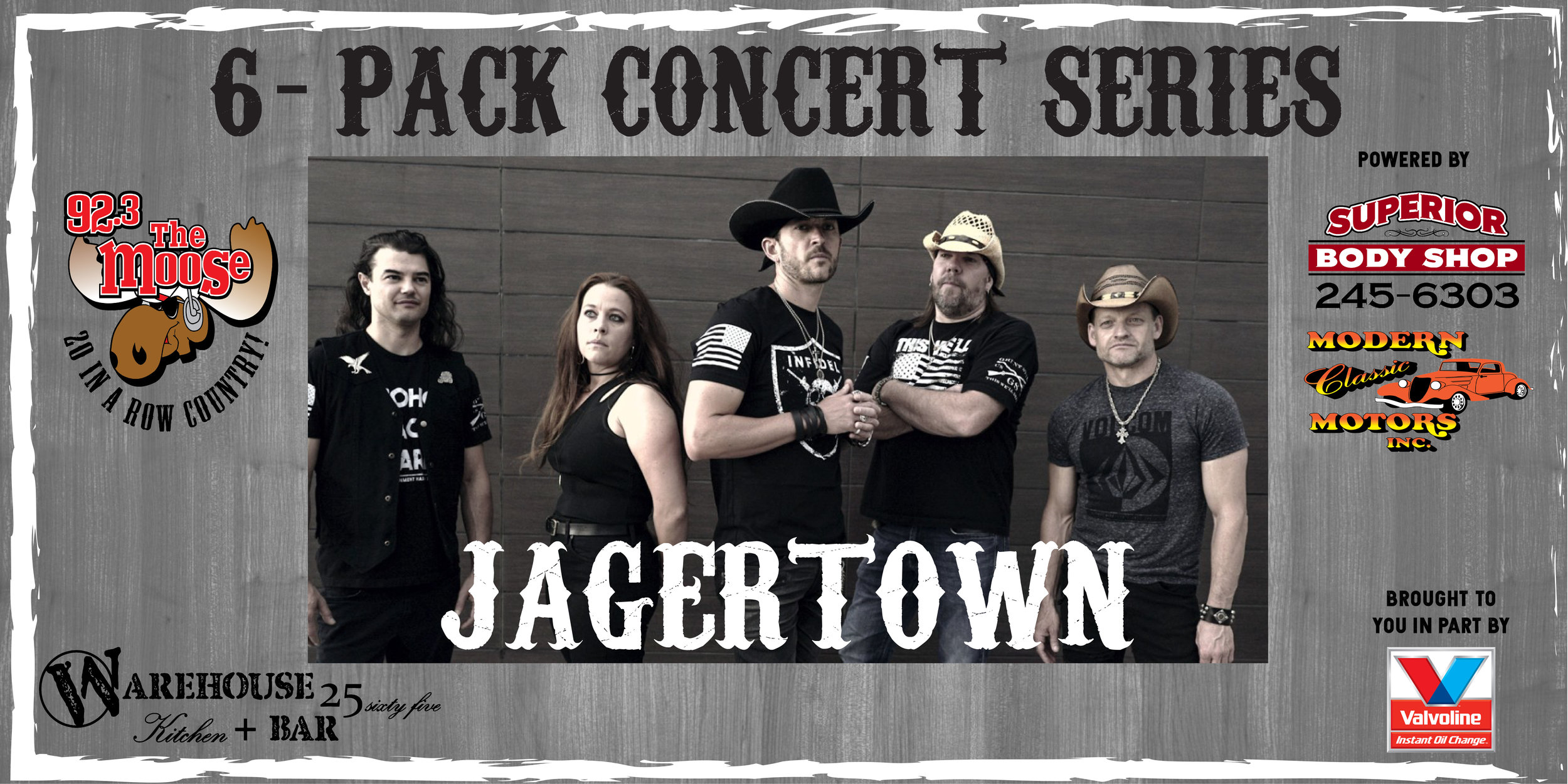 They are back and ready to throw down all your favorite tunes! Come get your swing on with the gang from Jagertown USA they always throw a HUGE PARTY when the hit the Warehouse Stage!