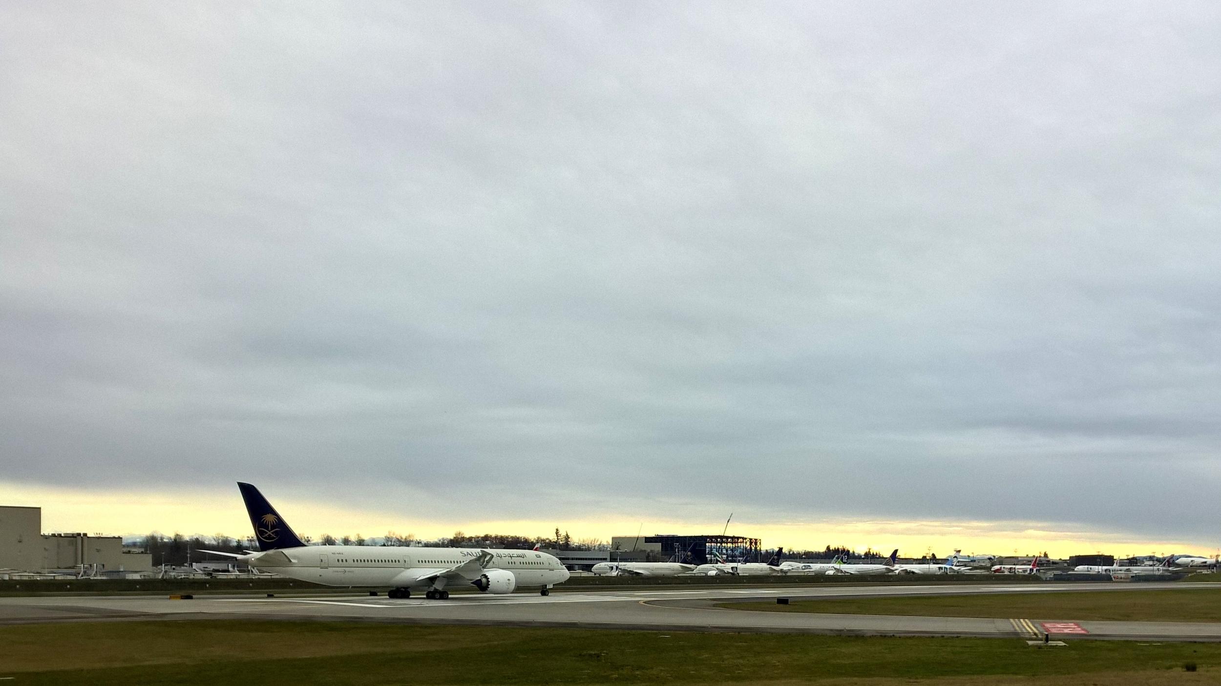 Saudia 787 ready for takeoff