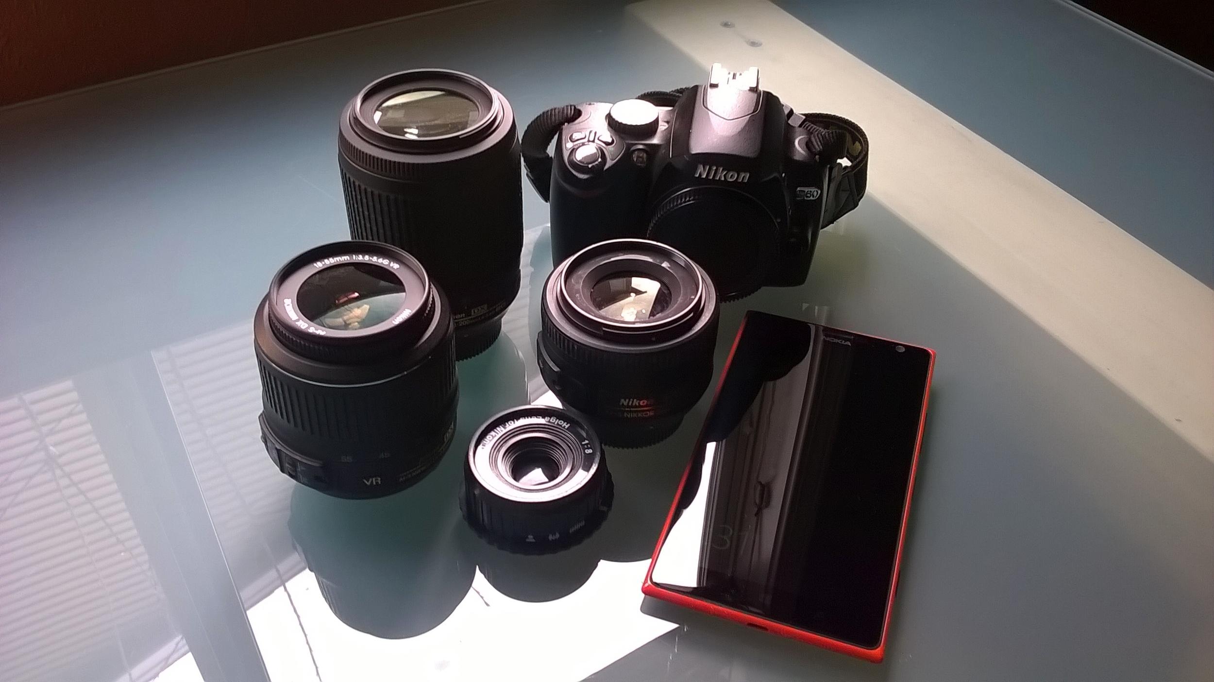 Nikon Rig and Lumia 1520