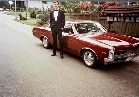 1967 Pontiac LeMans - with tux! how fancy!