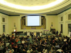 People during the event inside of Bush Memorial Hall