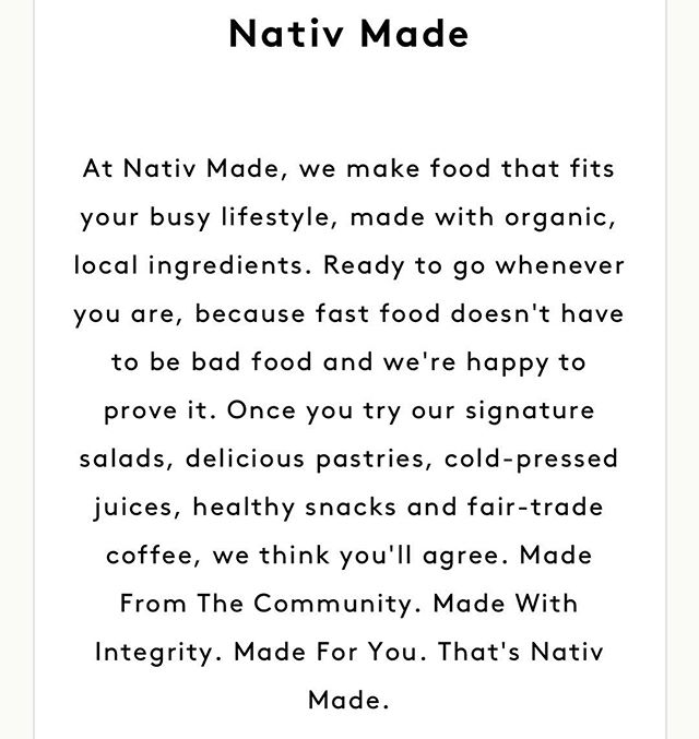 Our Motto stands firm to our beliefs and goals. Why should fast food be bad food? We're trying hard to make it the best foods available. #reinventingfastfood #nativmade #miamifresh