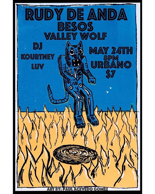 Tonight, check us in Modesto! Posted @withrepost • @valleywolf209 MODESTO! 5/24. Our second show of the #RudoYCursiTour will partake tomorrow in the vdub motherland. Party it up once again with @rudy_de_anda , @esobesos4u , and @kourtney.luv !!! 🎨: @el_paulo_press