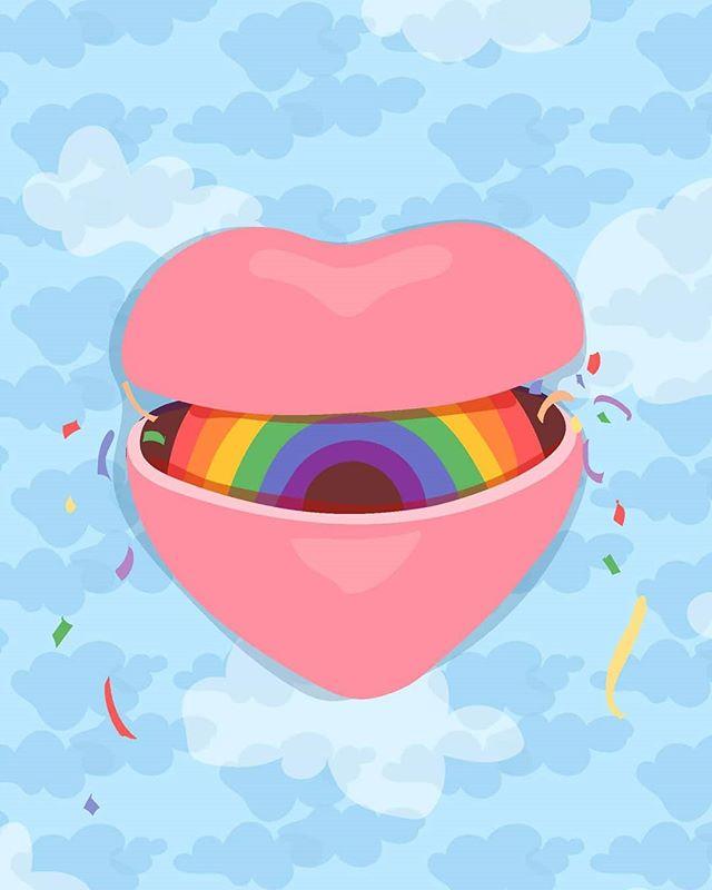 💛💜 i can be your pillow if ur feelin lonely 💜💛 #love #art #artcollective #artist #artistsoninstagram #illustration #cintiq #adobeillustrator #drawing #pride #rainbow #love #love #love