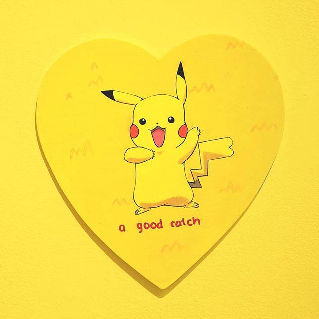 ❤ 💛🔥 that tinder flame that wants to take a peek at you 🔥💛 ❤ #drawing #pikachu #tinder #art #artist #artistsoninstagram #yellow