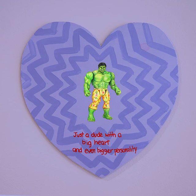 💚 💜 💛 m y 💛 k i n d a 💛 t i n d e r 💛 d a t e 💛 💜 💚 + nerd - green + also super cute and loves pets #hulk #green #purple #superhero #bigheart #drawing #art #artist #artistsoninstagram