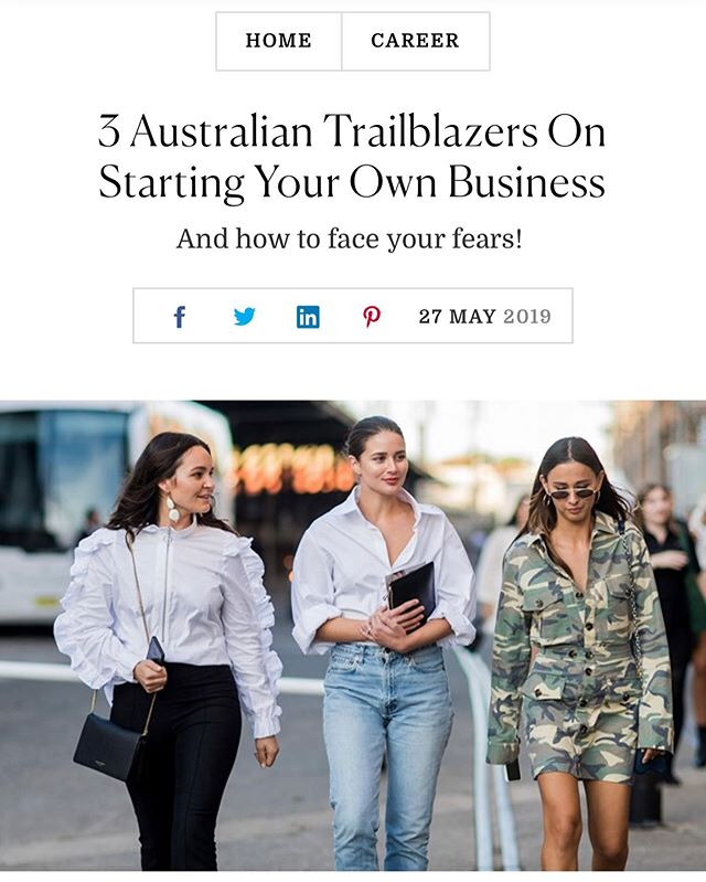 Want to start your own business yet struggling to take the first step? You're not alone.  Head to @marieclaireau to find out what @harperandharley of @theundonestore, @eleanorpendleton  of @gritty_pretty and @beckwadworth of @anorganisedlife have to say about what it really means to start your own empire. Thank you @honkifyoureunicorny.