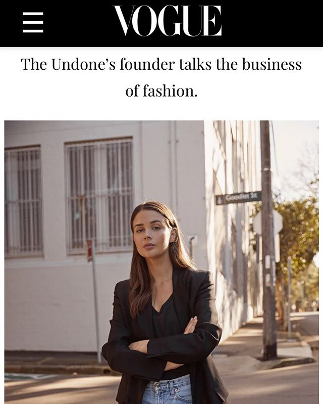 Celebrating three years in business, find out what inspired @harperandharley to launch @theundonestore, the biggest challenges she's faced and what's coming up next. Live on @vogueaustralia, thank you @thepowderpuffpost x