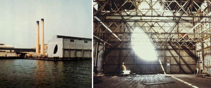 Exterior and interior photo documentation of Gordon Matta-Clark's   Day's End