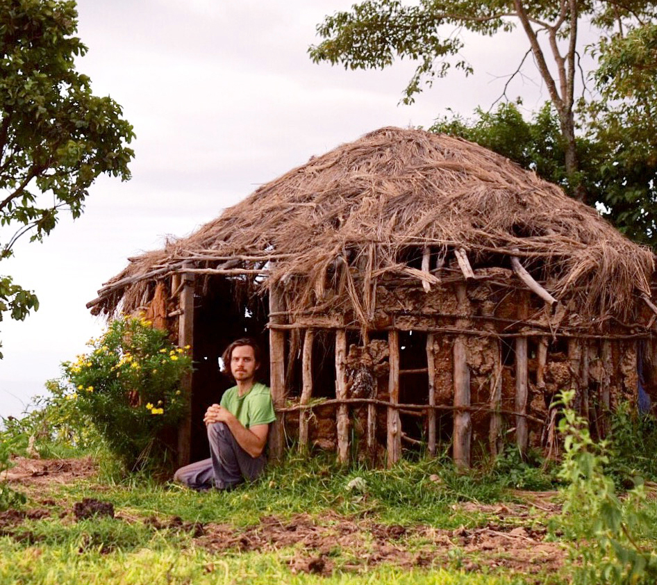 An African hut, made of some stuff laying around