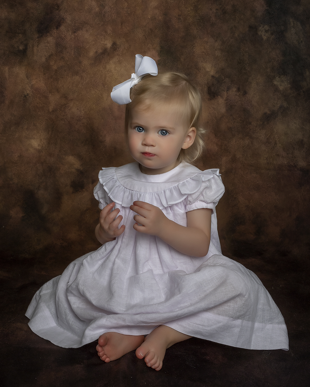 painted child portrait st simons island | painterly portrait of a southern girl