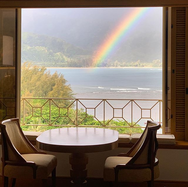 Good morning from Kauai 🌈 #roomwithaview @princevilleresort