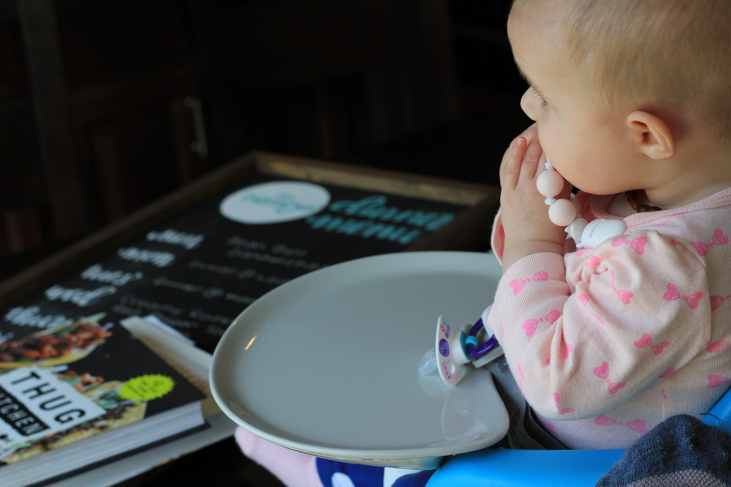 My meal planning helper, Baby Girl!