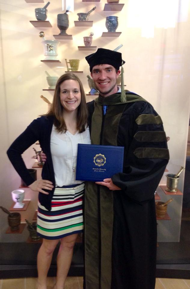 Patrick and I, Spring 2014, at his Pharmacy School Graduation. Like other couples, we have gone through a lot together. Graduate school was certainly a tough period for us, but we were in it together and made it through!
