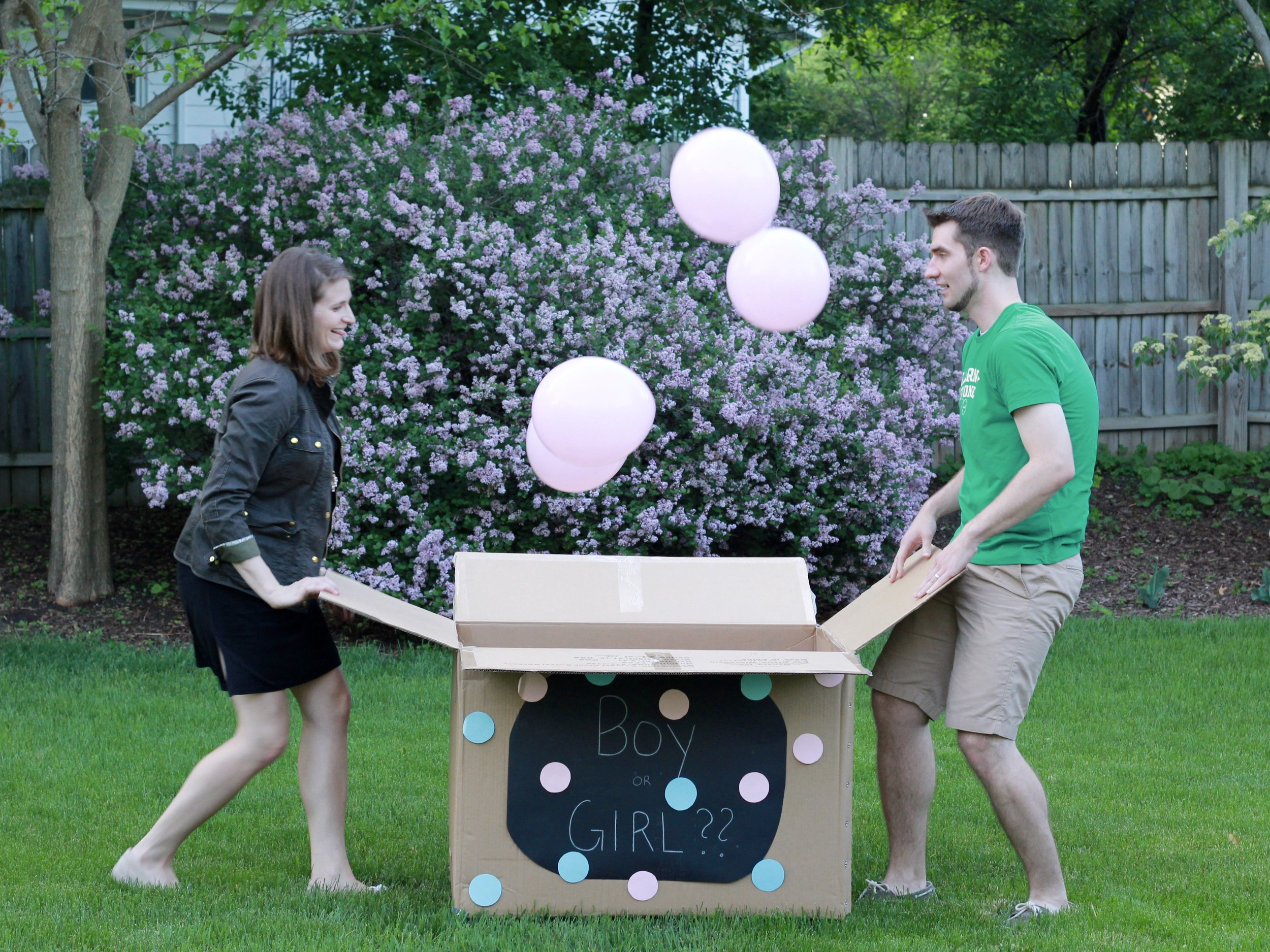 This is how we revealed to our family, in summer 2016, we were having a baby girl!