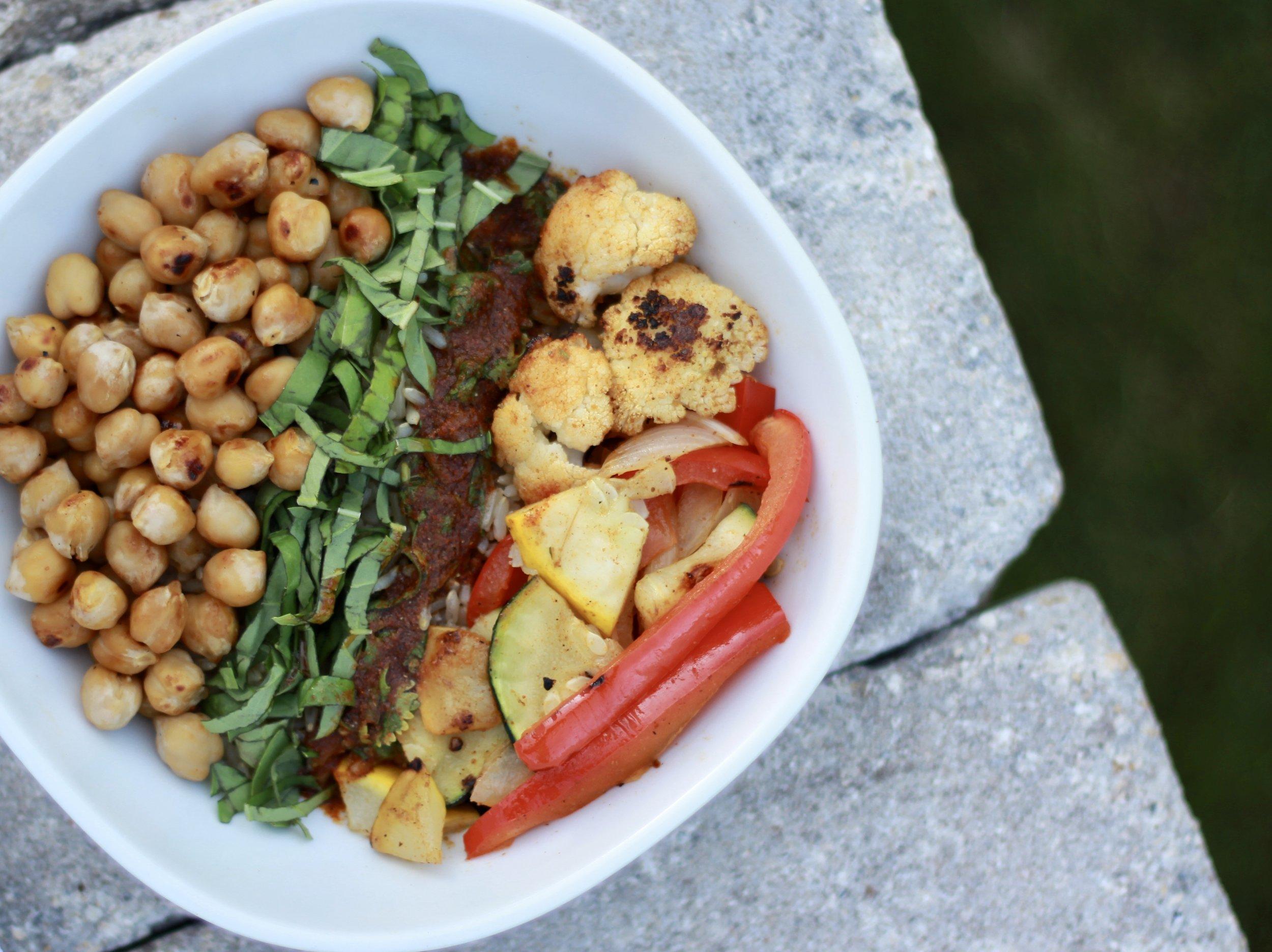 Roasted Vegetable Farro Bowls