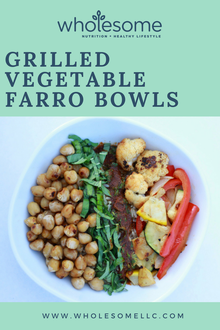 Grilled Vegetable Farro Bowls
