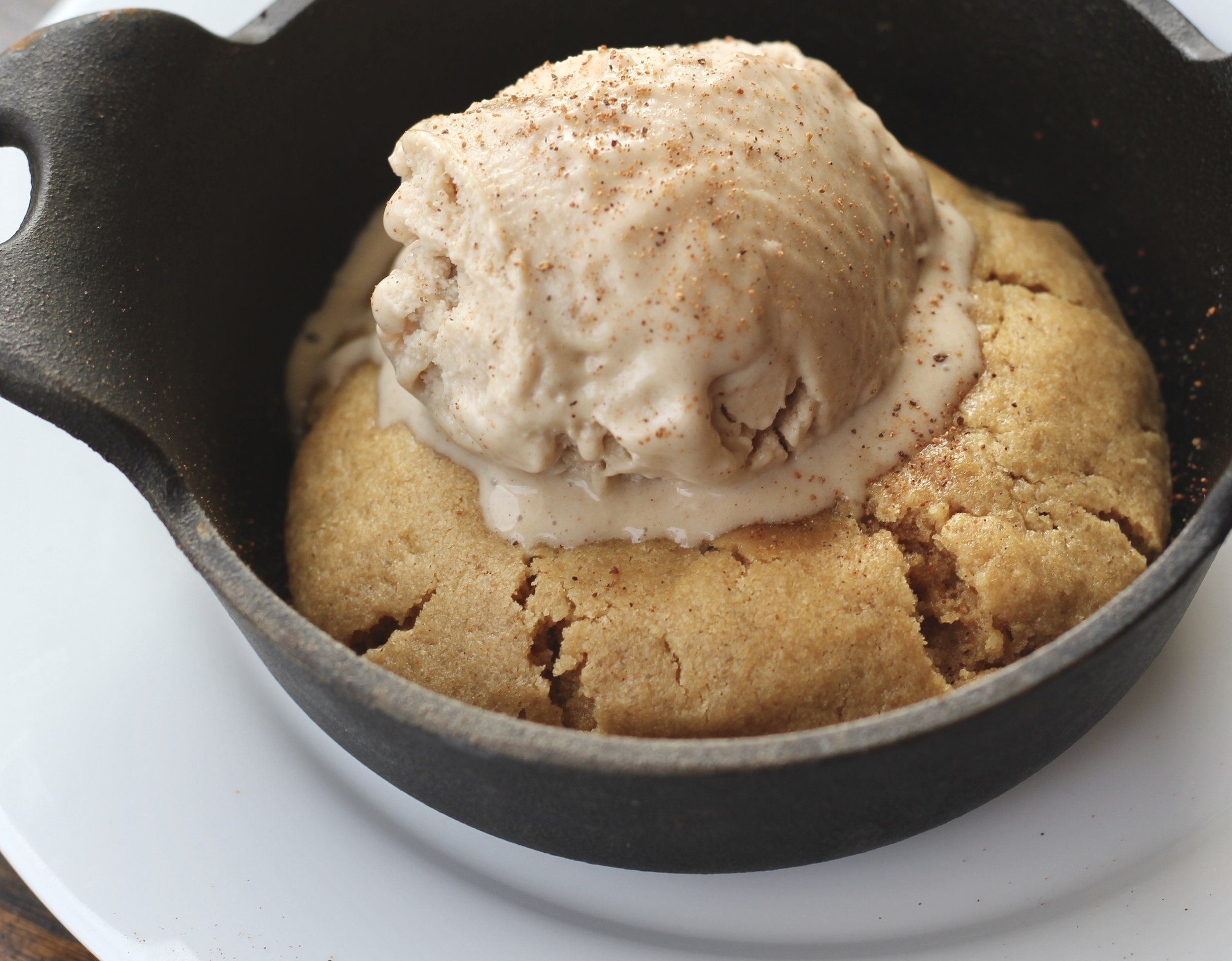 Egg-Free Peanut Butter Cookie Skillets | Wholesome