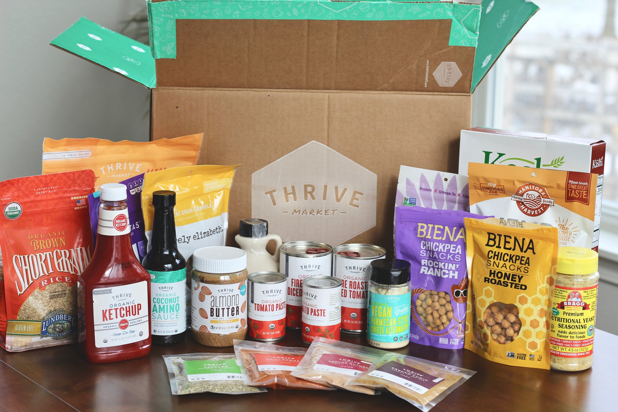 Everything I purchased in my most recent thrive market order! Yum, yum, yum!
