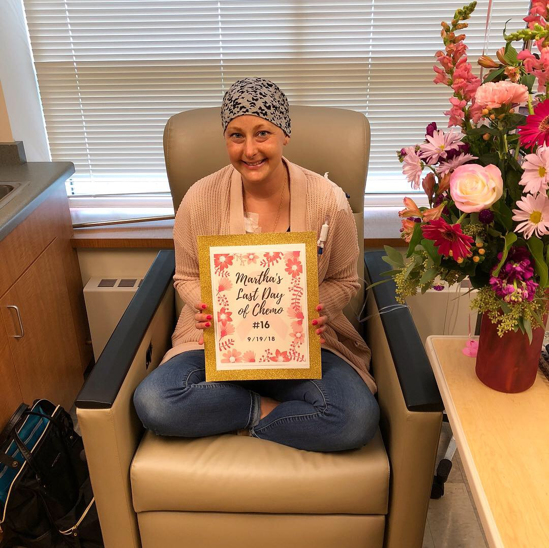 I am so honored to have been Martha's oncology dietitian through her chemotherapy treatment. But I am even more honored to be friends now! 💕