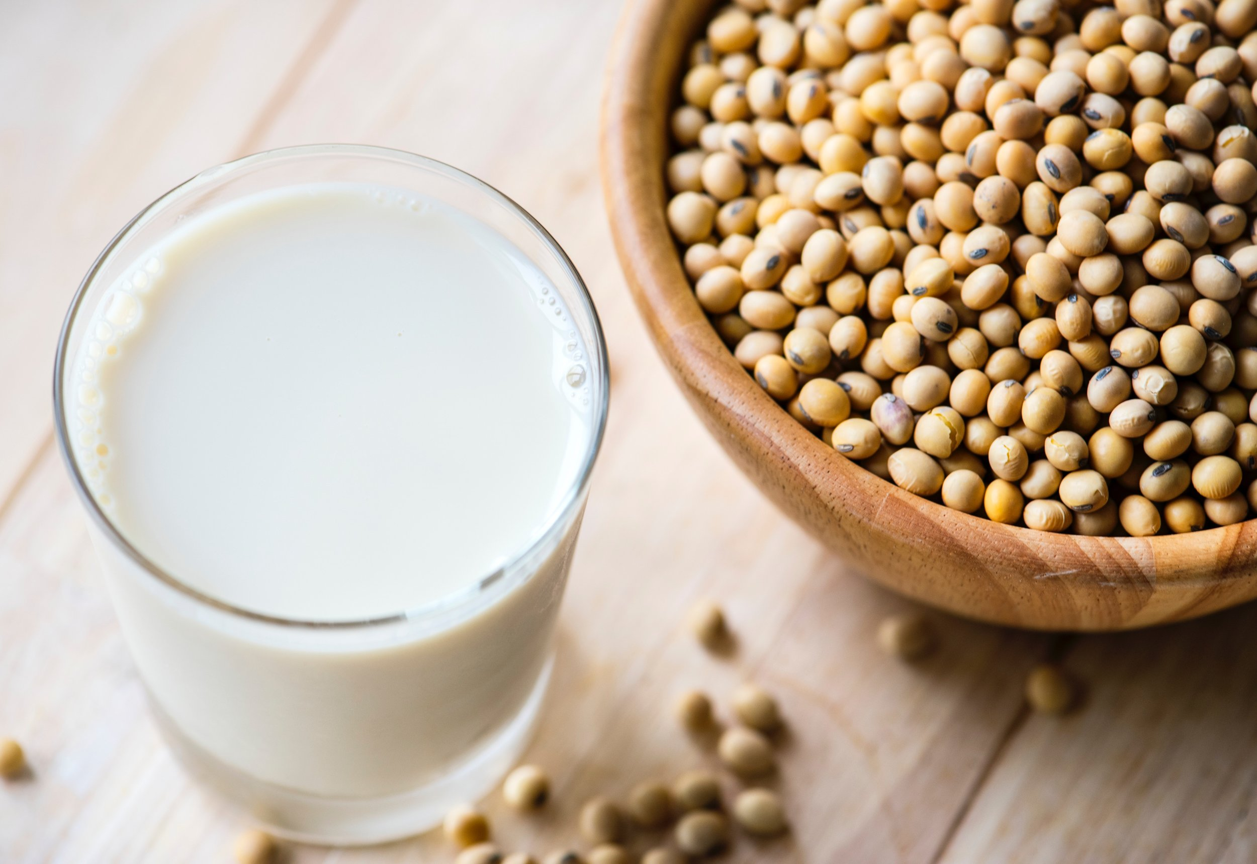 Soy milk is a great non-Dairy option