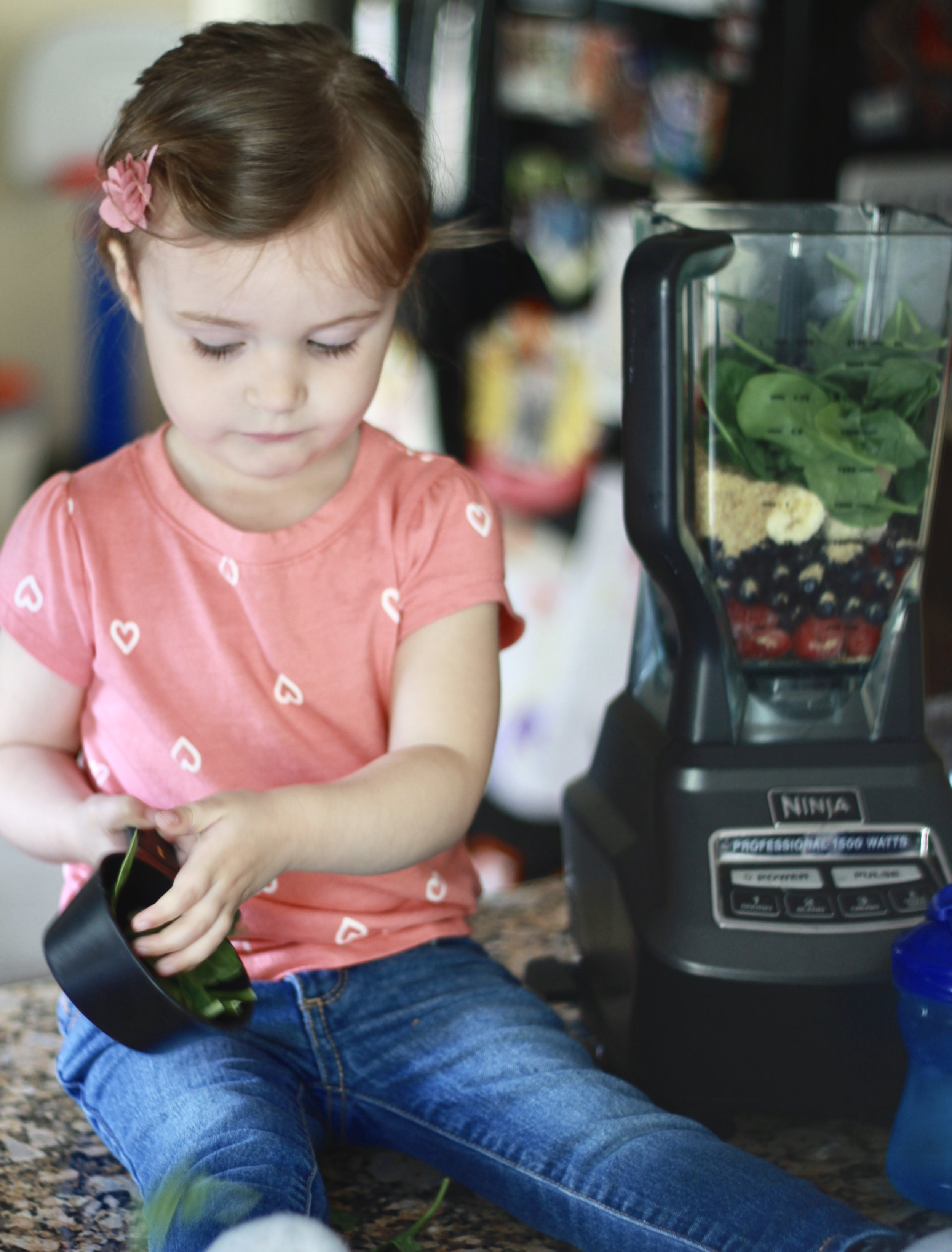 Let little ones help make smoothies!