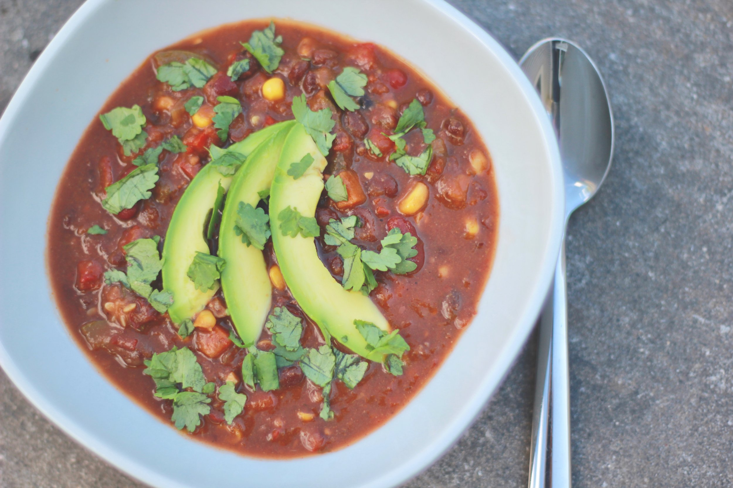Our  Wholesome & Hearty Vegetable Chili