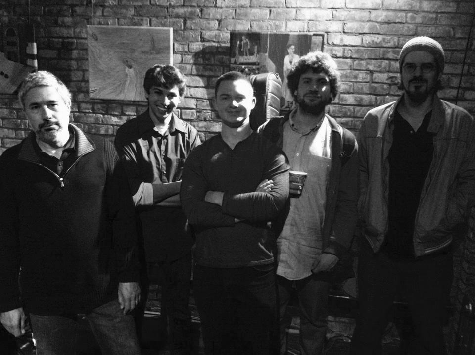 L to R: Jean Michel Pilc, Paolo Cantarella, Nate Hook, Travis Reuter, Louis De Mieulle  NYC 2014
