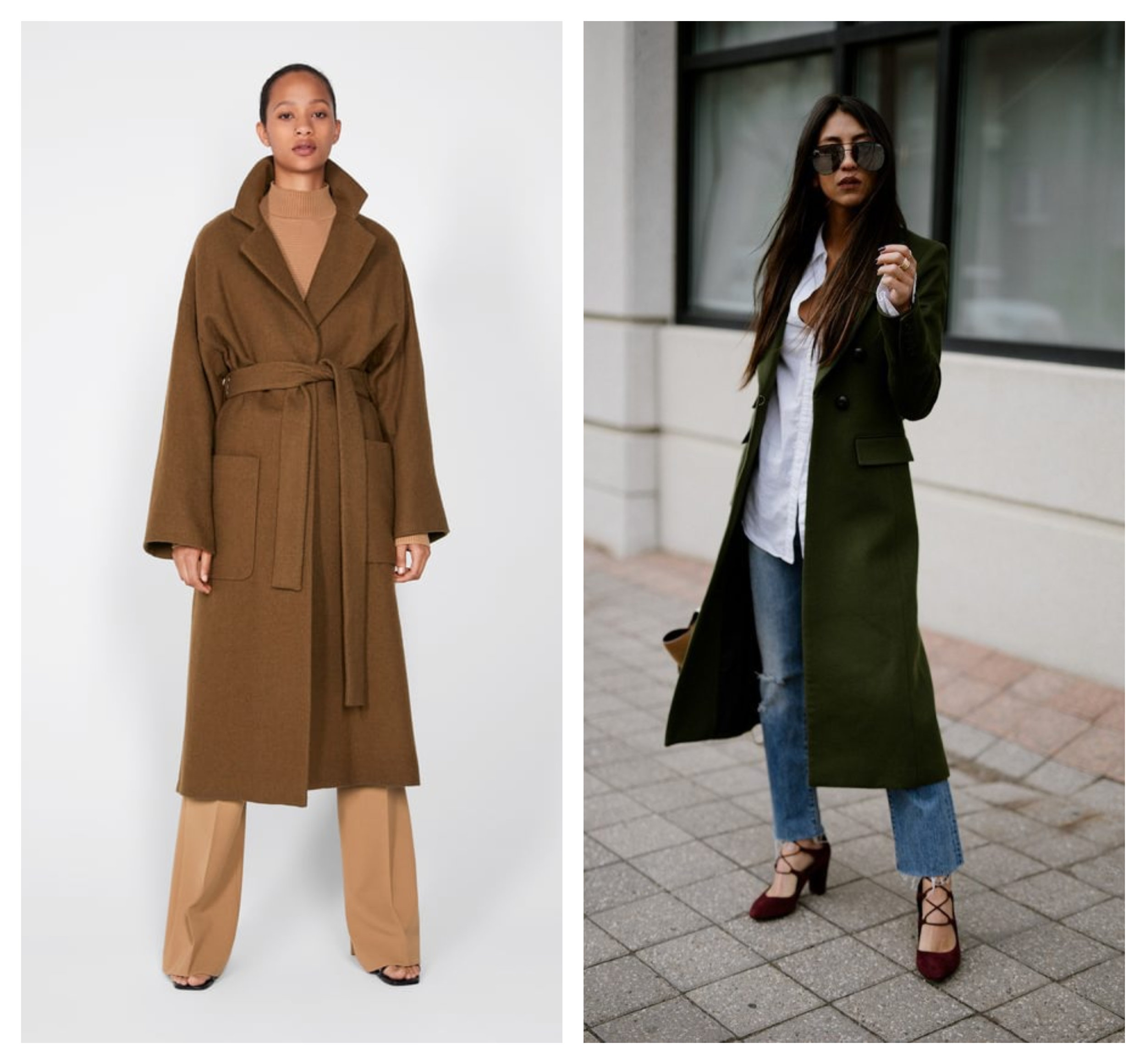 Belted Wrap Coat Wool by Zara, Veronica Beard Coat