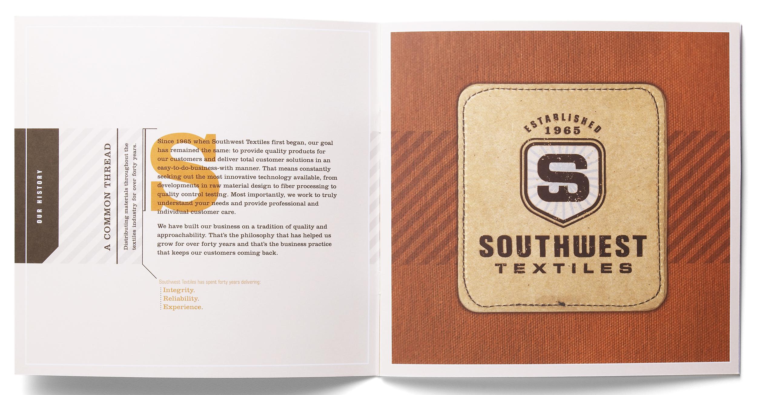 sales brochure: sample spread #1