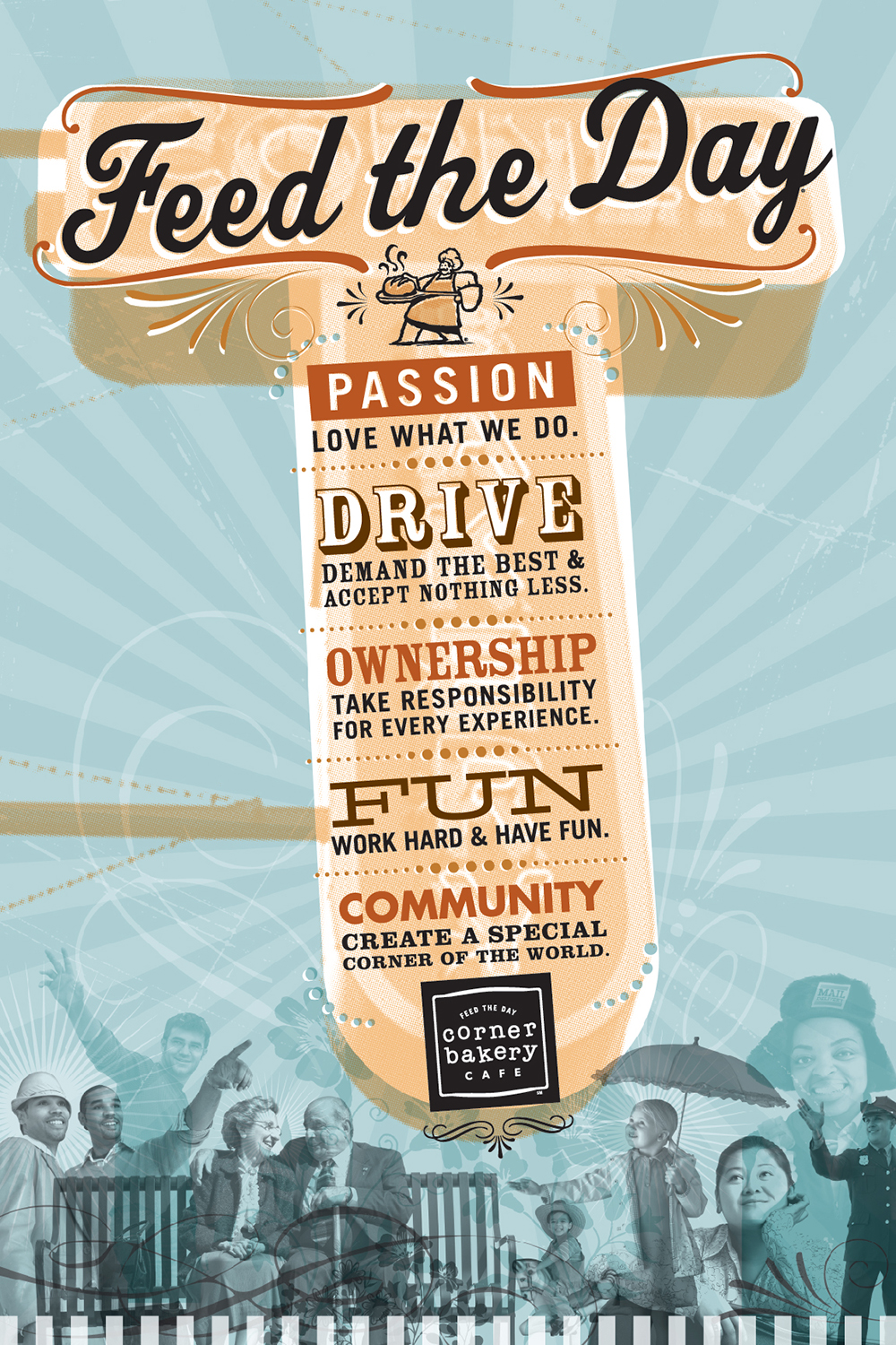 Corner Bakery Cafe: Core Values Poster