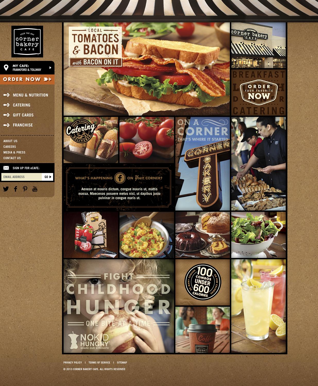 Corner Bakery Cafe: Website