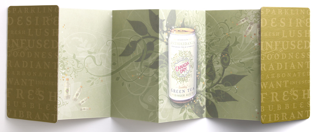 canada dry green tea - sales book