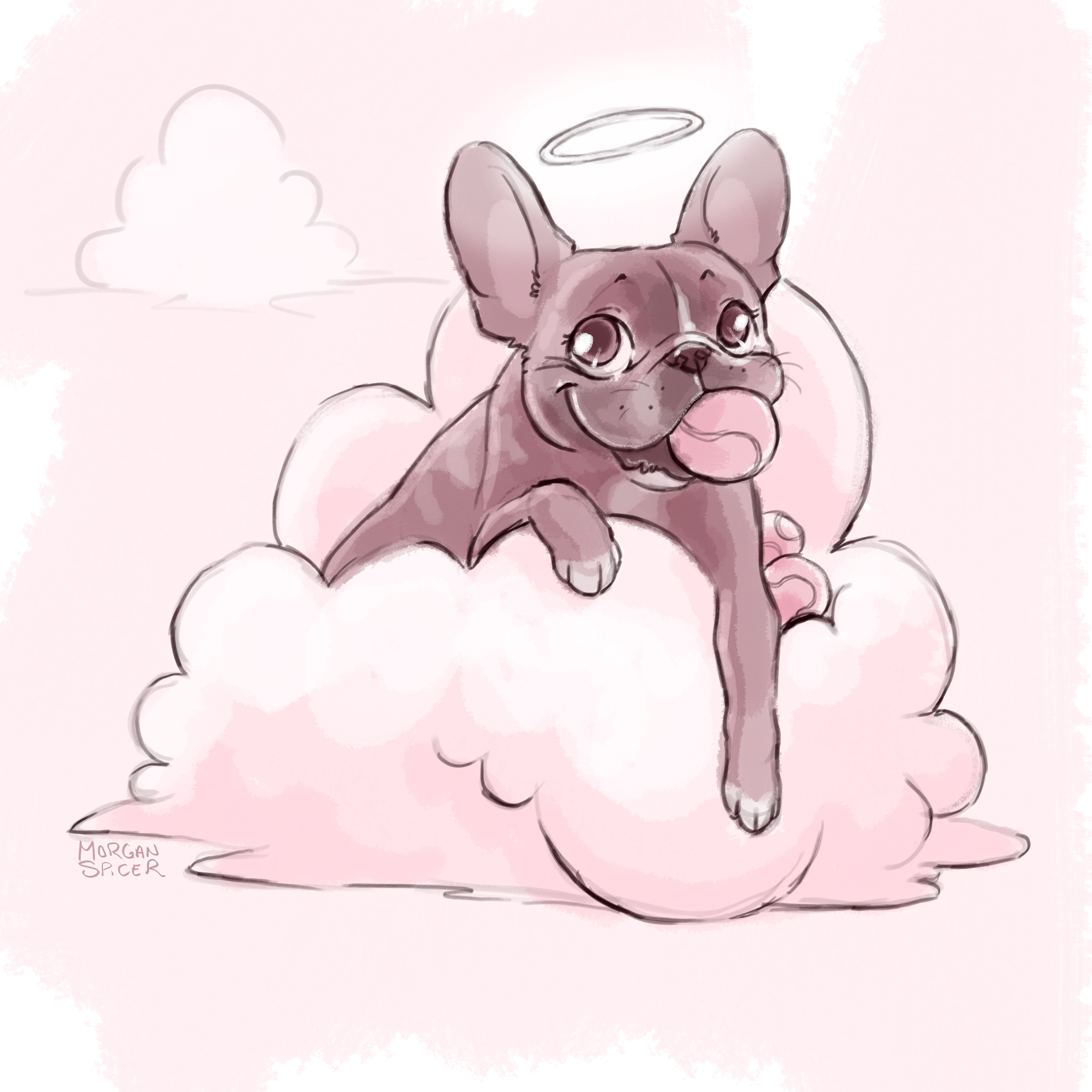 Charlotte, one of my favorite Frenchies and beloved heart dog of a dear friend.  Morgan Spicer (c) created this wonderful remembrance.