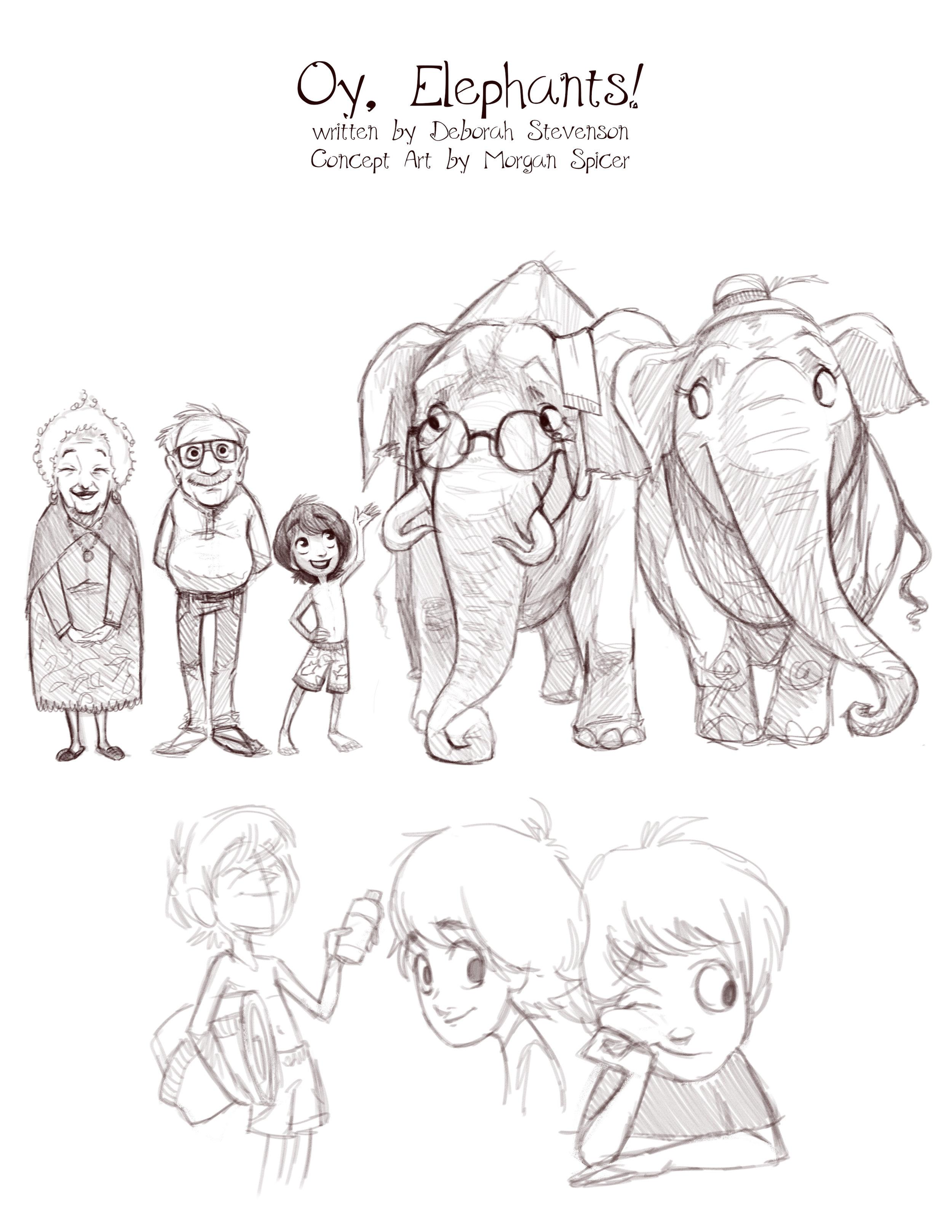 Concept art for Oy, Elephants! (c) Morgan Spicer