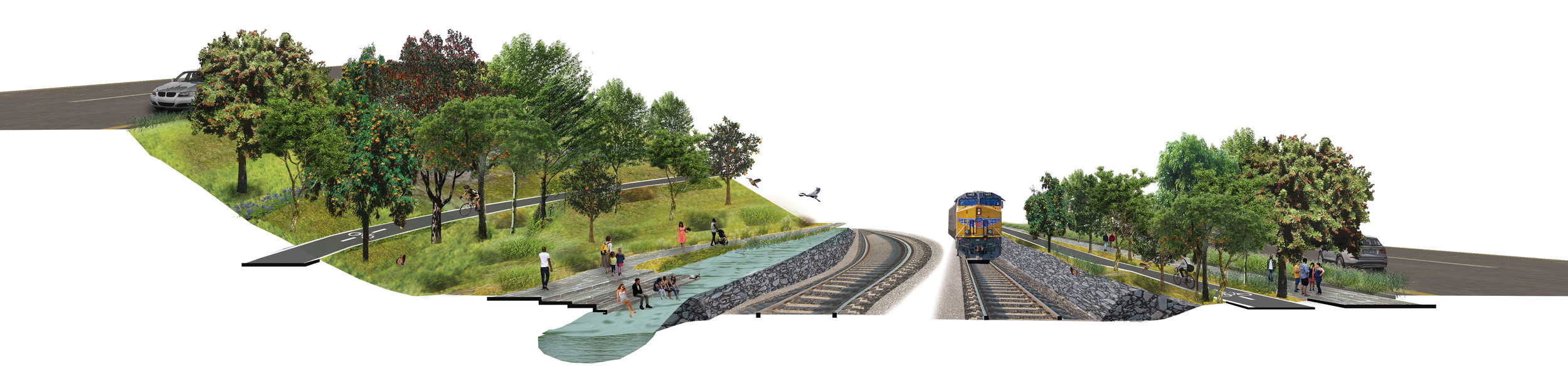 Hydrodynamic Section Perspective at Railyard