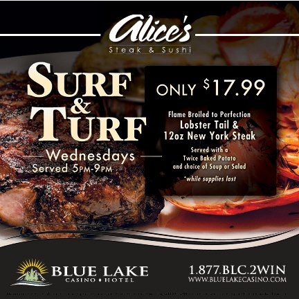 Billboard Photo Blue Lake Casino & Hotel
